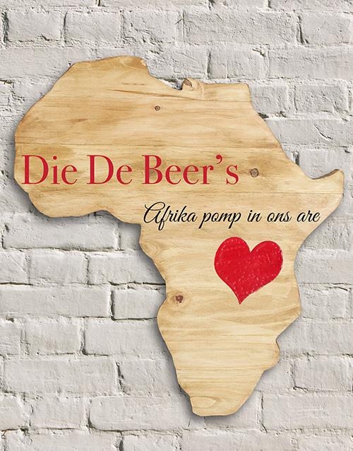 personalised: Personalised Africa In Our Veins Board!