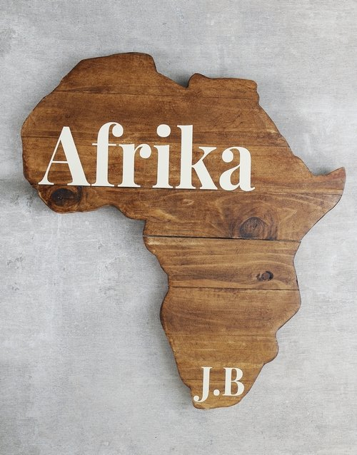 home-decor: Personalised Initial Africa Board!