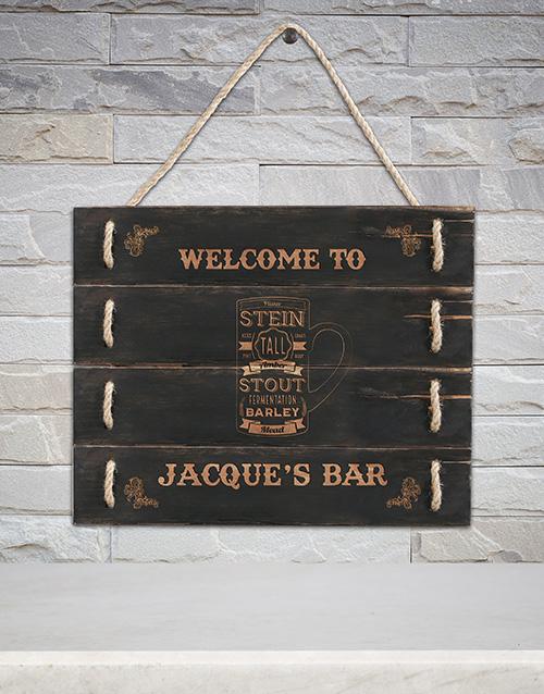 home-decor: Personalised Bar Hanging Panel Art!