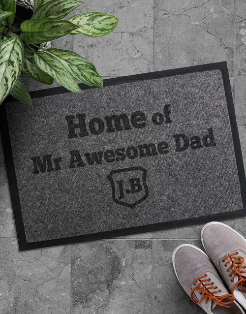 personalised: Personalised Awesome Dad Doormat!