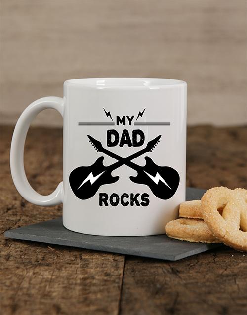 homeware: Personalised My Dad Rocks Mug!