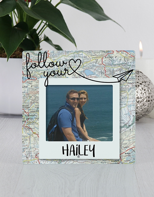 personalised: Personalised Travellers Glass Tile Photo Frame!