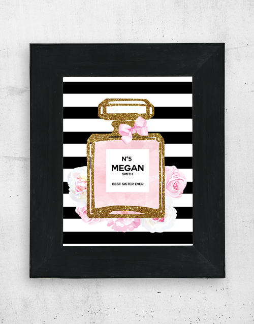 home-decor: Personalised Perfume Wall Art!