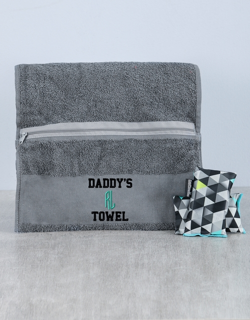 activewear: Personalised Daddys Towel and Goodsmellas!