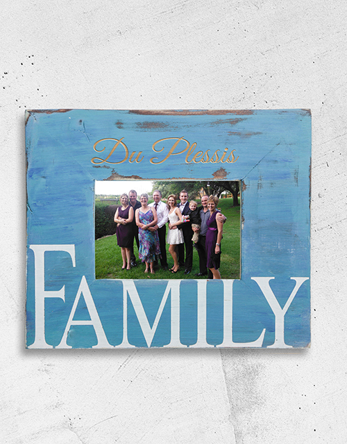 personalised: Personalised Familie Photo Frame!