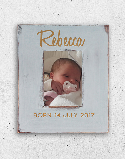 home-decor: Personalised Born Photo Frame!