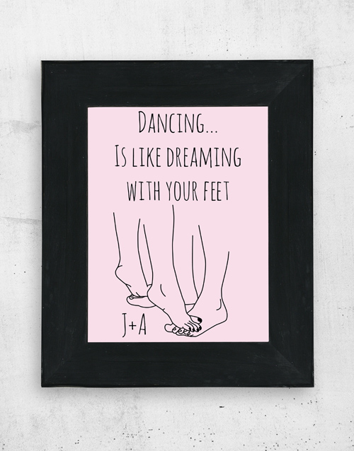personalised: Personalised Dancing Wall Art!