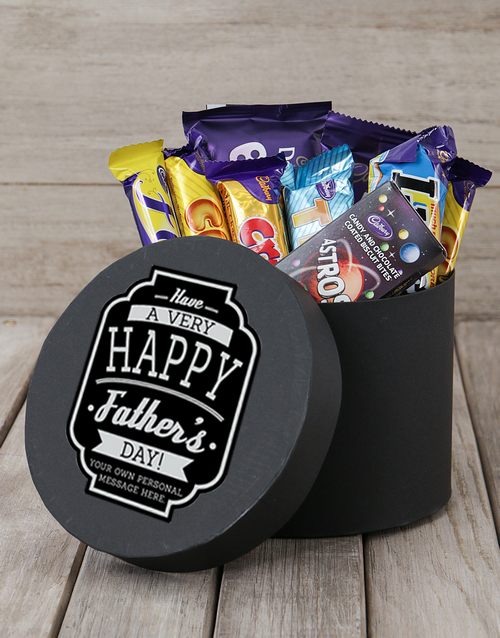 chocolate: Personalised Very Happy Fathers Day Choc Hat Box!