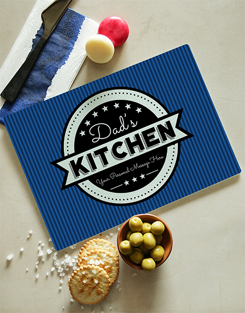 personalised: Personalised Blue Glass Chopping Board!