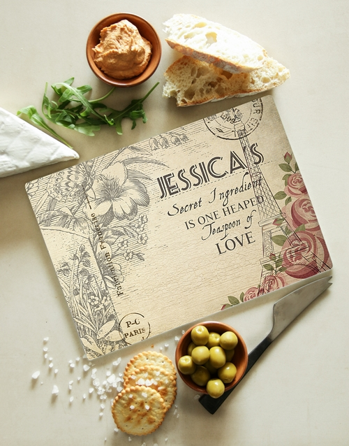 mothers-day: Personalised Secret Ingredient Glass Board!