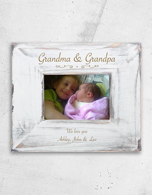 grandparents-day: Personalised Grandma and Grandpa Frame!