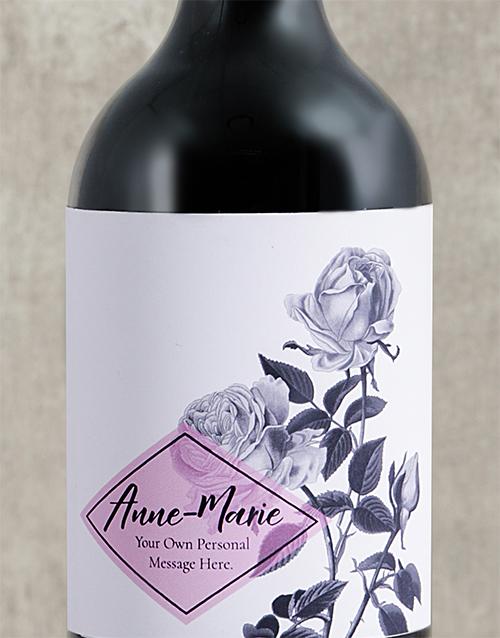 anniversary: Personalised Purple Rose Wine!