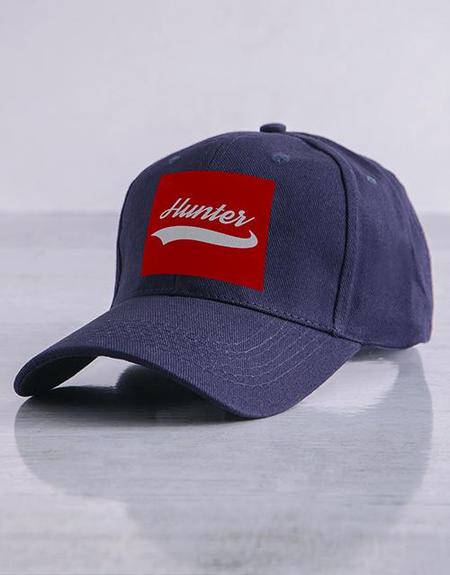 personalised: Personalised Navy Swish Peak Cap!