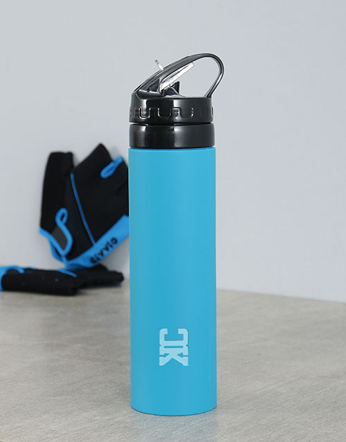 personalised:  Personalised Silicone Water Bottle With Initials!
