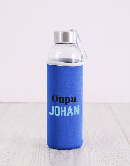 grandparents-day: Personalised Blue Grandpa Water Bottle!
