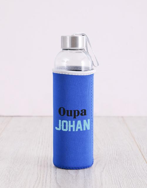 activewear: Personalised Blue Grandpa Water Bottle!