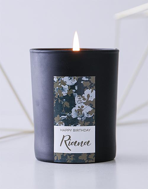 personalised: Personalised Black Vintage Rose Birthday Candle!