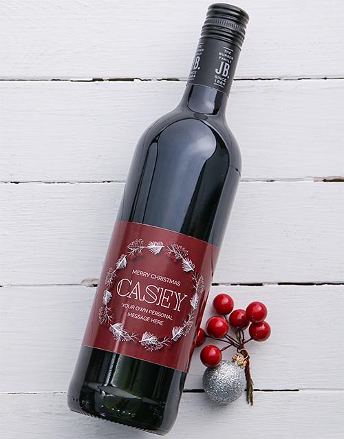 fine-alcohol: Personalised Snow Wreath Wine!
