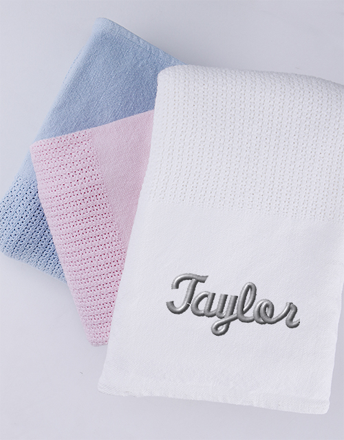 baby: Personalised Cotton Baby Blanket!