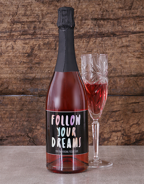 personalised: Personalised Dreams Sparkling Rose!
