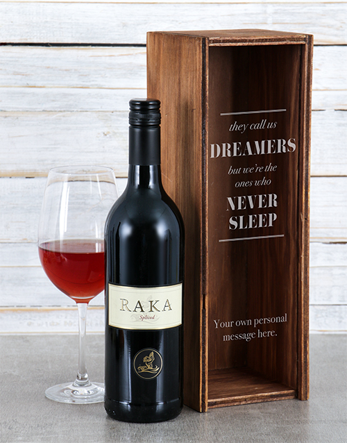 fine-alcohol: Personalised Dreamers Wine Crate!