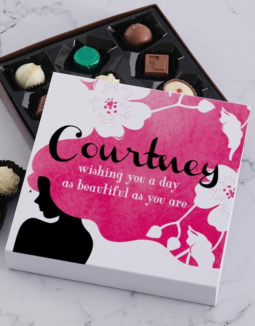 womens-day: Personalised Beautiful Women Chocolate Tray!