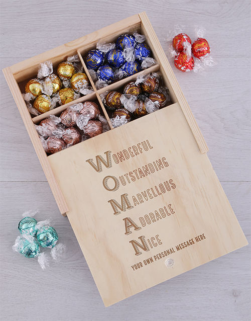 womens-day: Personalised Woman Chocolate Treasure Box!