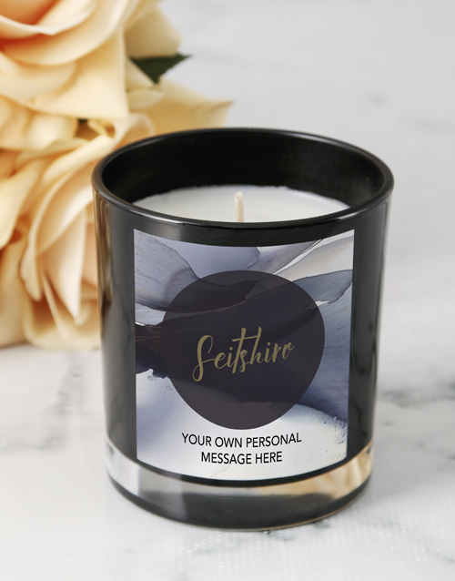 personalised: Personalised Black Petal Candle!
