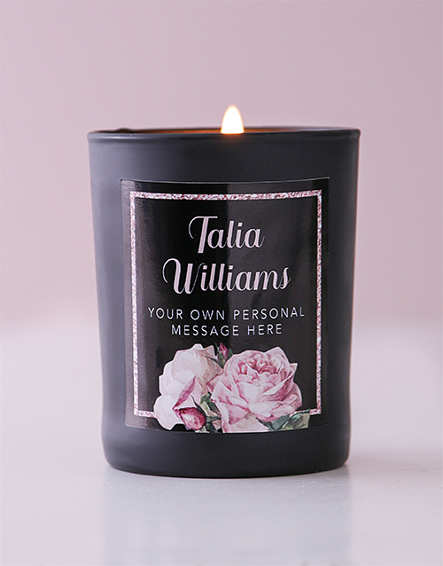 personalised: Personalised Rose Bliss Candle!