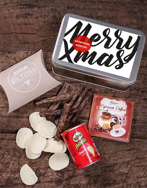 christmas: Personalised Merry Christmas Snack Tin!