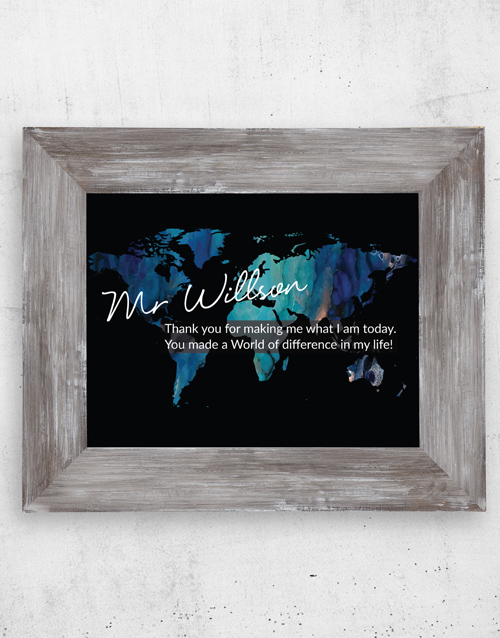 teachers-day: Personalised World Difference Black Frame!