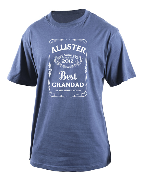 clothing: Personalised Best Grandad T Shirt!