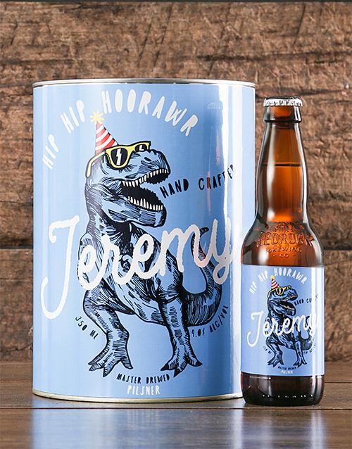 birthday: Personalised TRex Birthday Craft Beer!