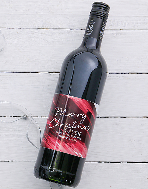 christmas: Personalised Christmas Brushstroke Wine!
