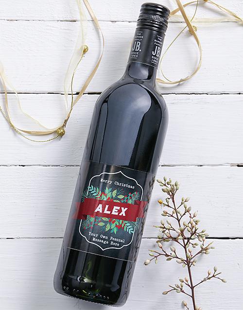 christmas: Personalised Vintage Christmas Wine!