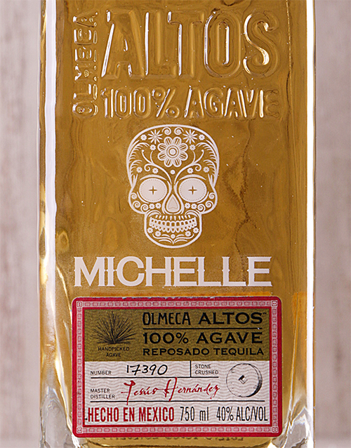 fine-alcohol: Personalised Olmeca Resposado!