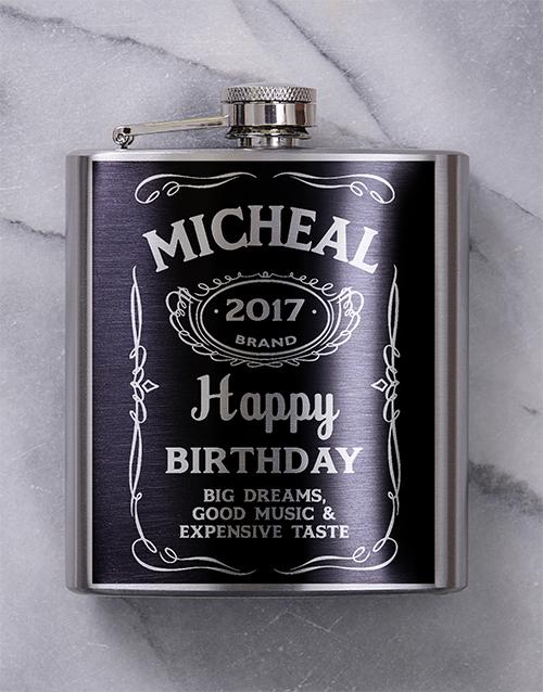 fine-alcohol: Personalised Jack Daniels Hip Flask!