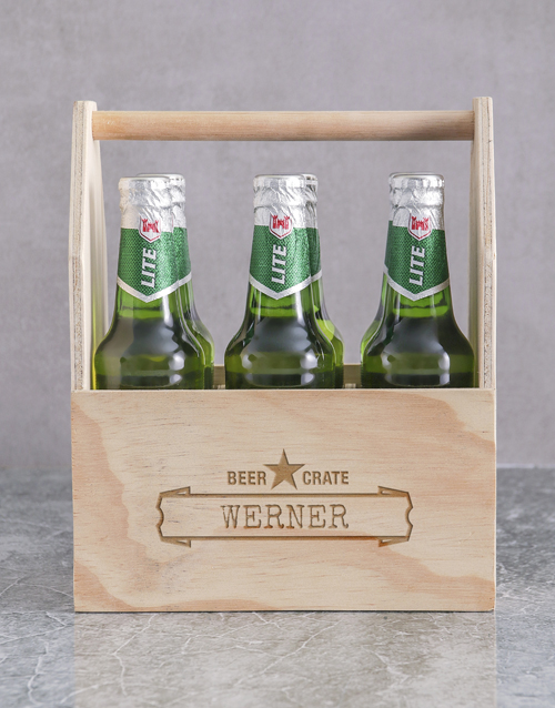 personalised: Personalised Six Pack Man Crate!