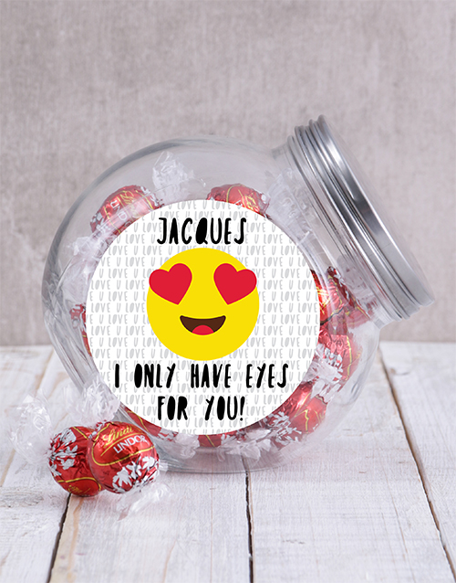 anniversary: Personalised Eyes For You Candy Jar!