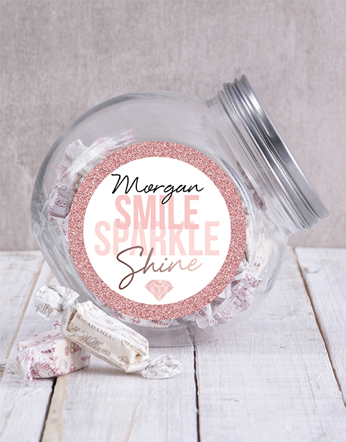 candy-jars: Personalised Smile Sparkle Candy Jar!