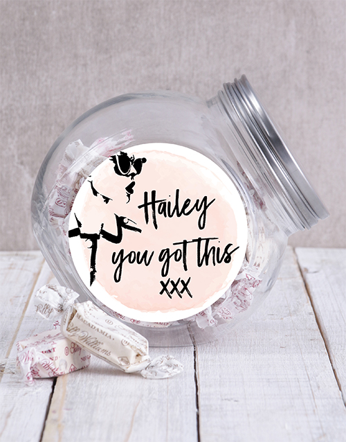 candy-jars: Personalised You Got This Candy Jar!