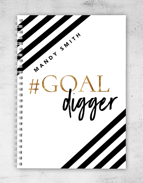 personalised: Personalised Goal Digger Notebook!