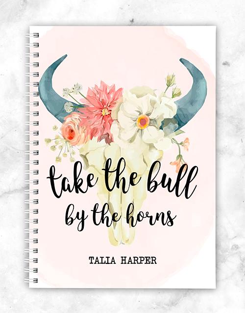 personalised: Personalised Bull Notebook!