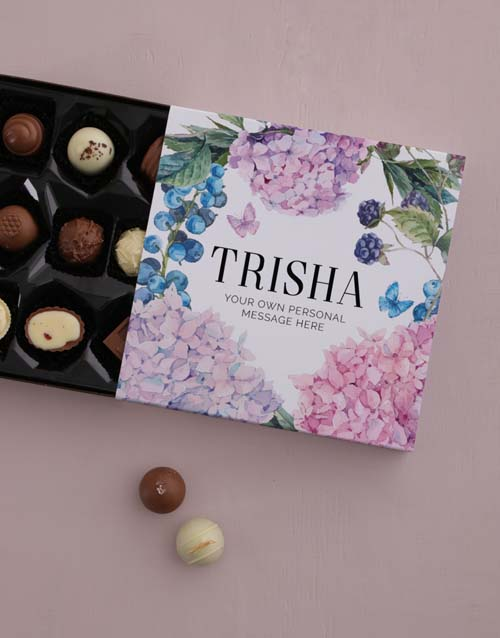 personalised: Personalised Floral Chocolate Tray!