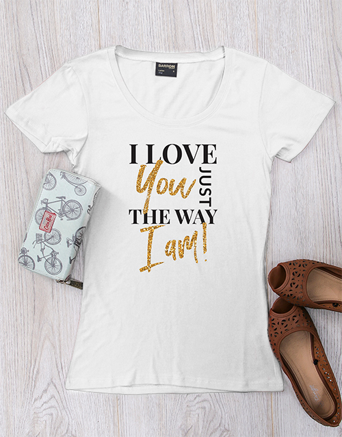 clothing: Personalised Just The Way I Am Shirt!