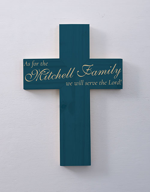 personalised: Personalised Serve The Lord Cross Wall Art!