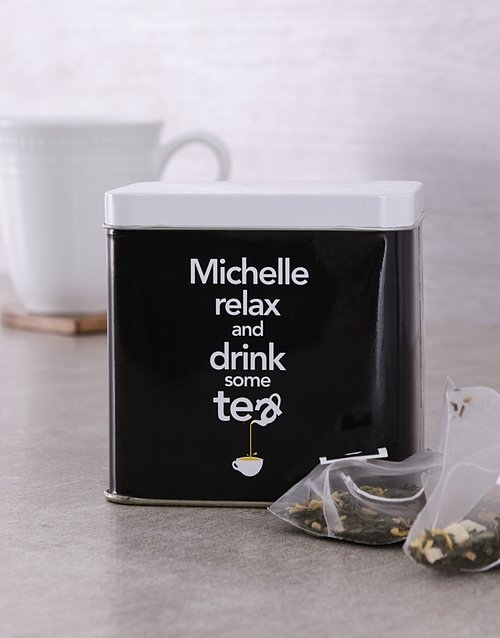 coffee-and-tea: Personalised Relax Tea Tin!