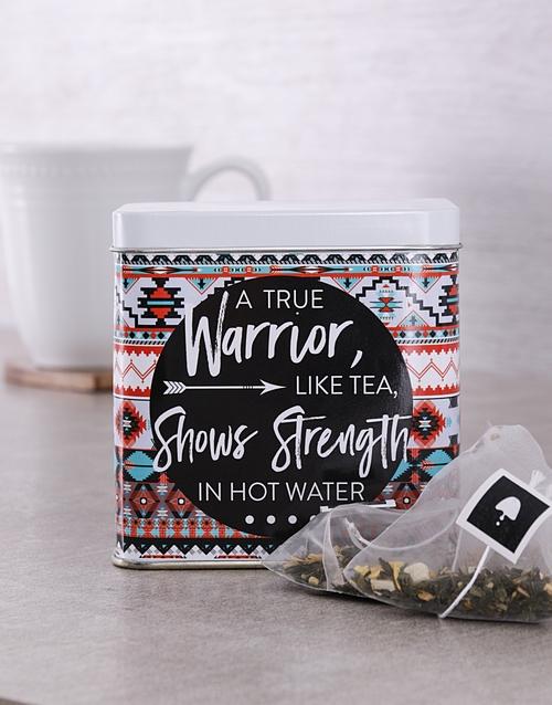 personalised: Personalised Warrior Tea Tin!
