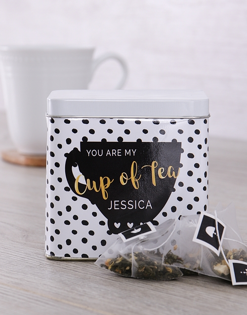 personalised: Personalised You Are My Cup Tea Tin!