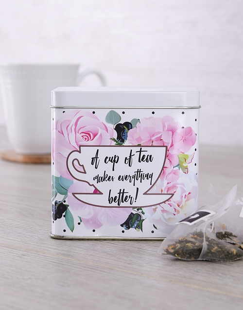 coffee-and-tea: Personalised Get Well Tea Tin!